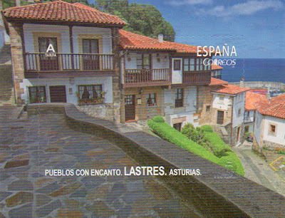 sello, Lastres, Asturias, filatelia