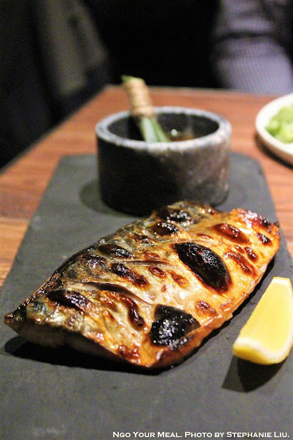 Pine Leaves Smoked Mackerel with Citrus Soy at Oiji in New York City