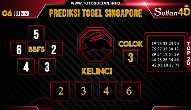 PREDIKSI TOGEL SINGAPORE SULTAN4D 06 JULI 2020