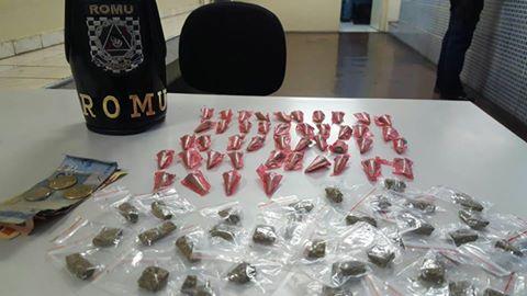 ROMU Jandira - 34º Flagrante de tráfico de drogas na cidade de Jandira