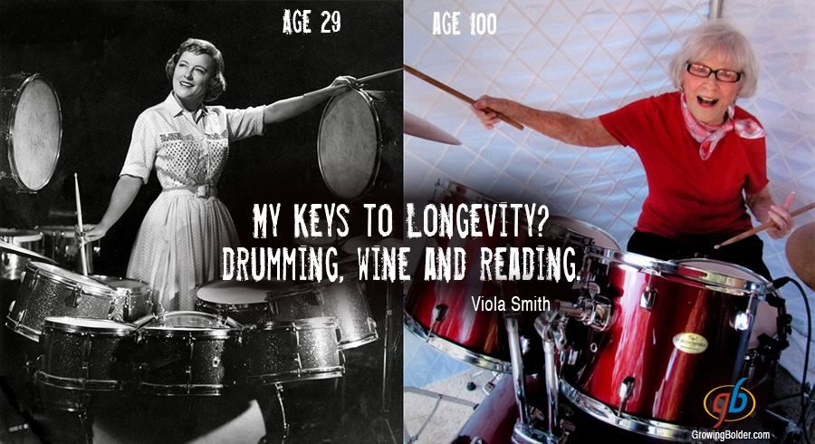 Viola Smith, a Pioneering Woman Drummer Who Was Still Actively Drumming at Age 100