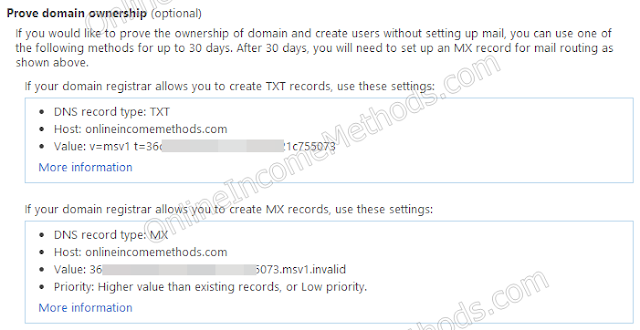 Configure TxT Records for Outlook at DNS Level