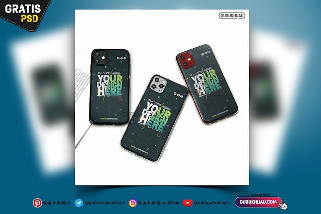Mockup Softcase iPhone 11 dan iPhone 11 Pro