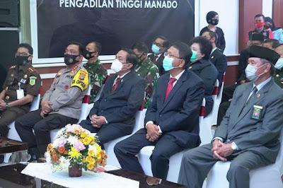 Sekprov Edwin Silangen Hadiri Peresmian 6 Gedung Pengadilan Terpadu