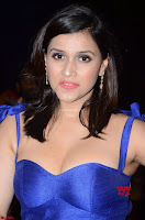 Mannara Chopra in Deep Neck Blue Gown at Zee Telugu Apsara Awards ~  Exclusive 016.jpg
