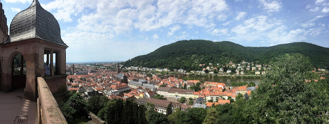 Overlooking Heidelberg Old Town from famous Castle