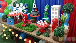 Decoração de festa infantil PJ Masks Herois de Pijamas