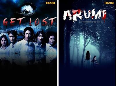 """poster film """"Get Lost"""" dan """"Arumi"""""""