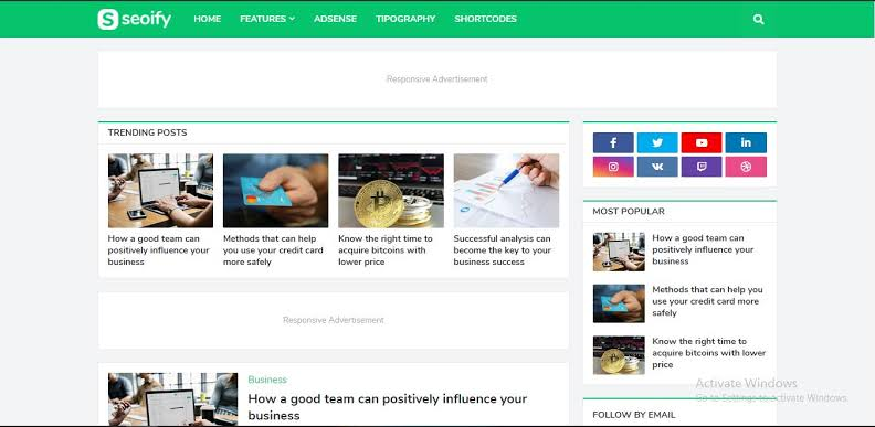 Seoify Blogger Template Download for free