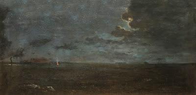 'Nocturno la Pampa', óleo del genovés y argentino Chiama Epaminonda (1844-1921), tomado de www.zurbaran.com.ar