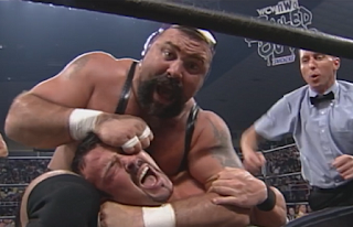 WCW Souled Out 1998 - Rick Steiner face mauls Buff Bagwell