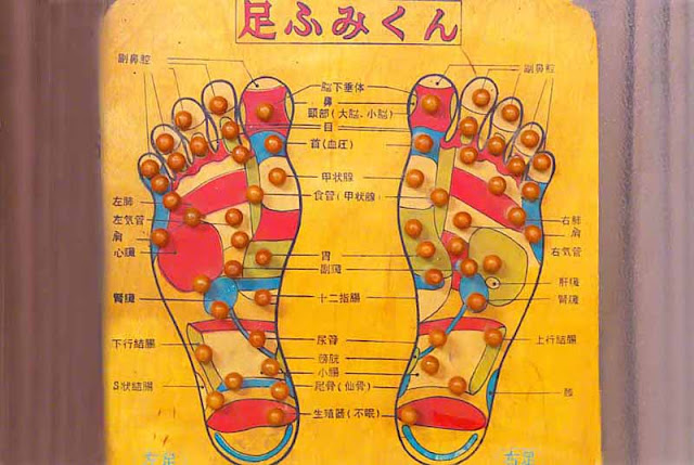 Acupressure points for feet, Japanese
