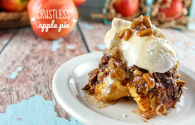 This delicious egg-free dessert is one the whole family will love! And it's much easier than making an actual pie! It's sweet and rich - and it's made even better with the sweet caramel flavor from Autumn Glory apples!