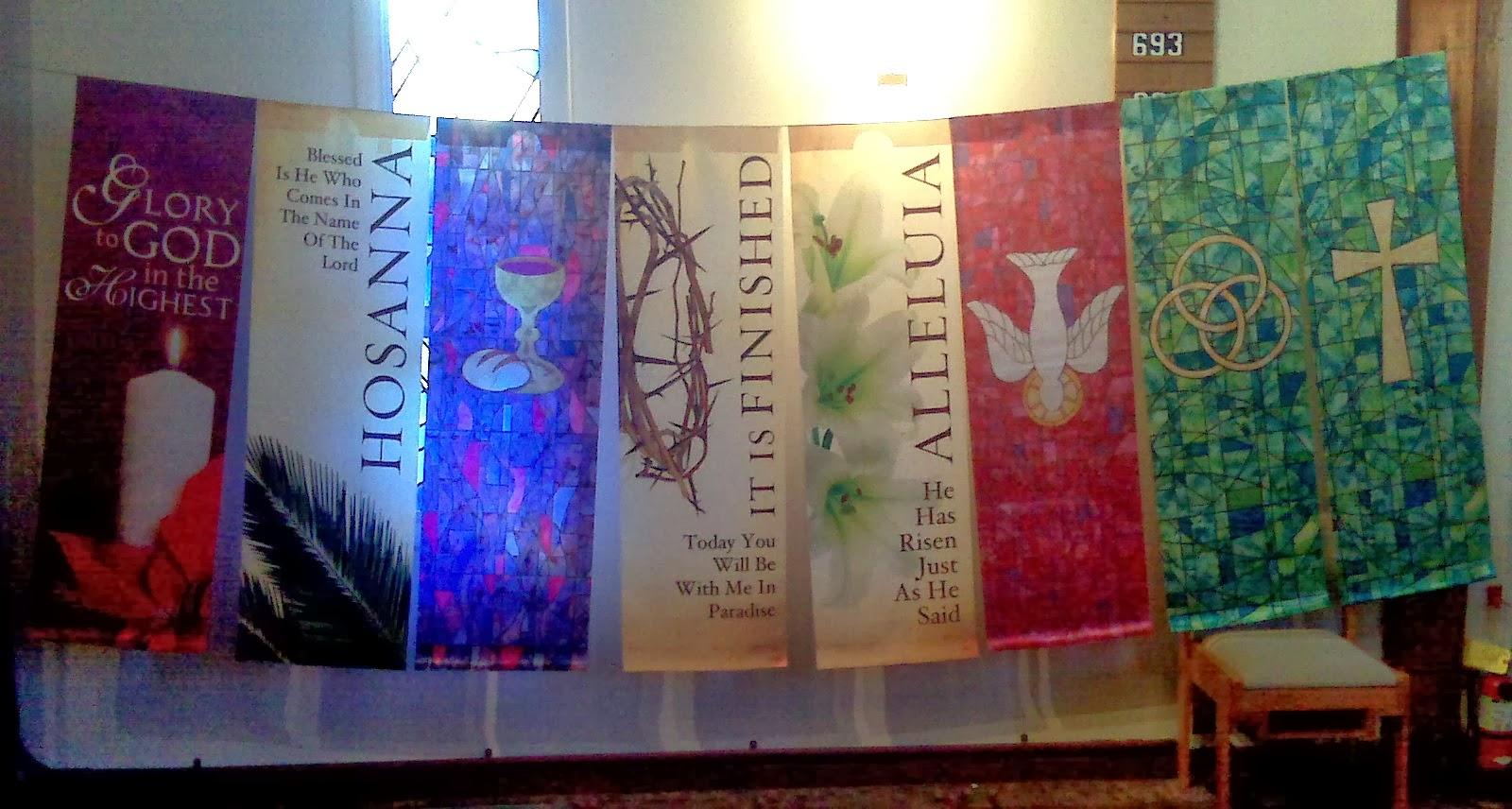 Church Banner Visual Display For Liturgical Calendar Year