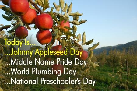 Johnny Appleseed Day Wishes for Whatsapp