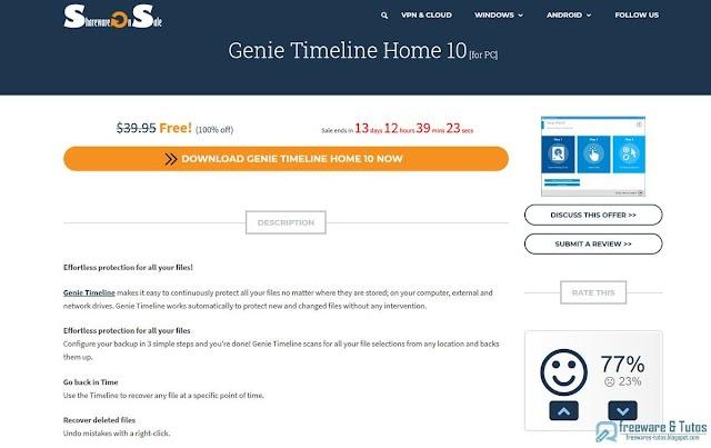Offre promotionnelle : Genie Timeline Home 10 gratuit !