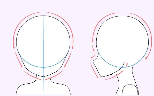 Gambar kepala gadis anime lucu