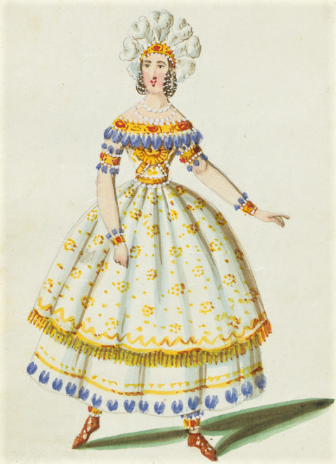 Eugenia Tadolini's costume as Alzira for the 1845 premiere of Verdi's Alzira