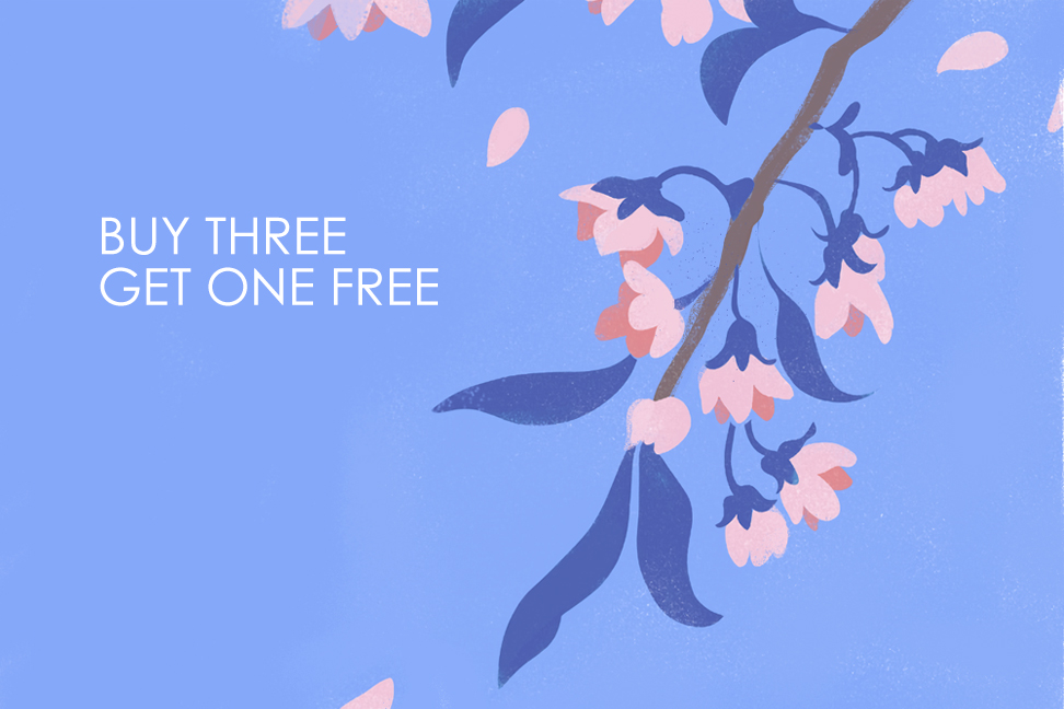 buy three get one free