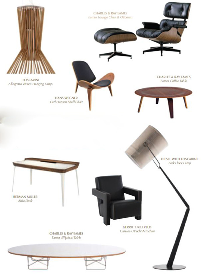 OUE Twin Peaks furnitures