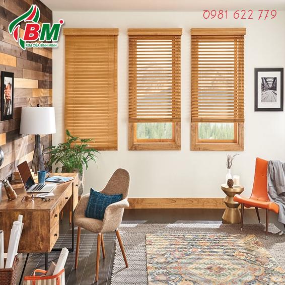 màn sáo gỗ cao cấp polystyrene.chống ẩm ướt ẩm mốc,mang tới cho bạn không gian sang trọng gọn gàng.thiết kế bởi bình minh.