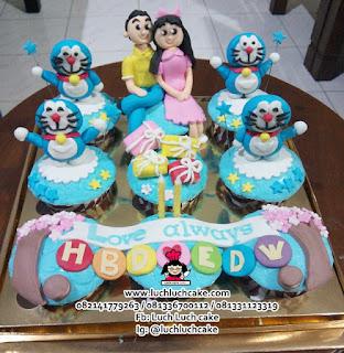 Cupcake Doraemon Romantis Untuk Pacar