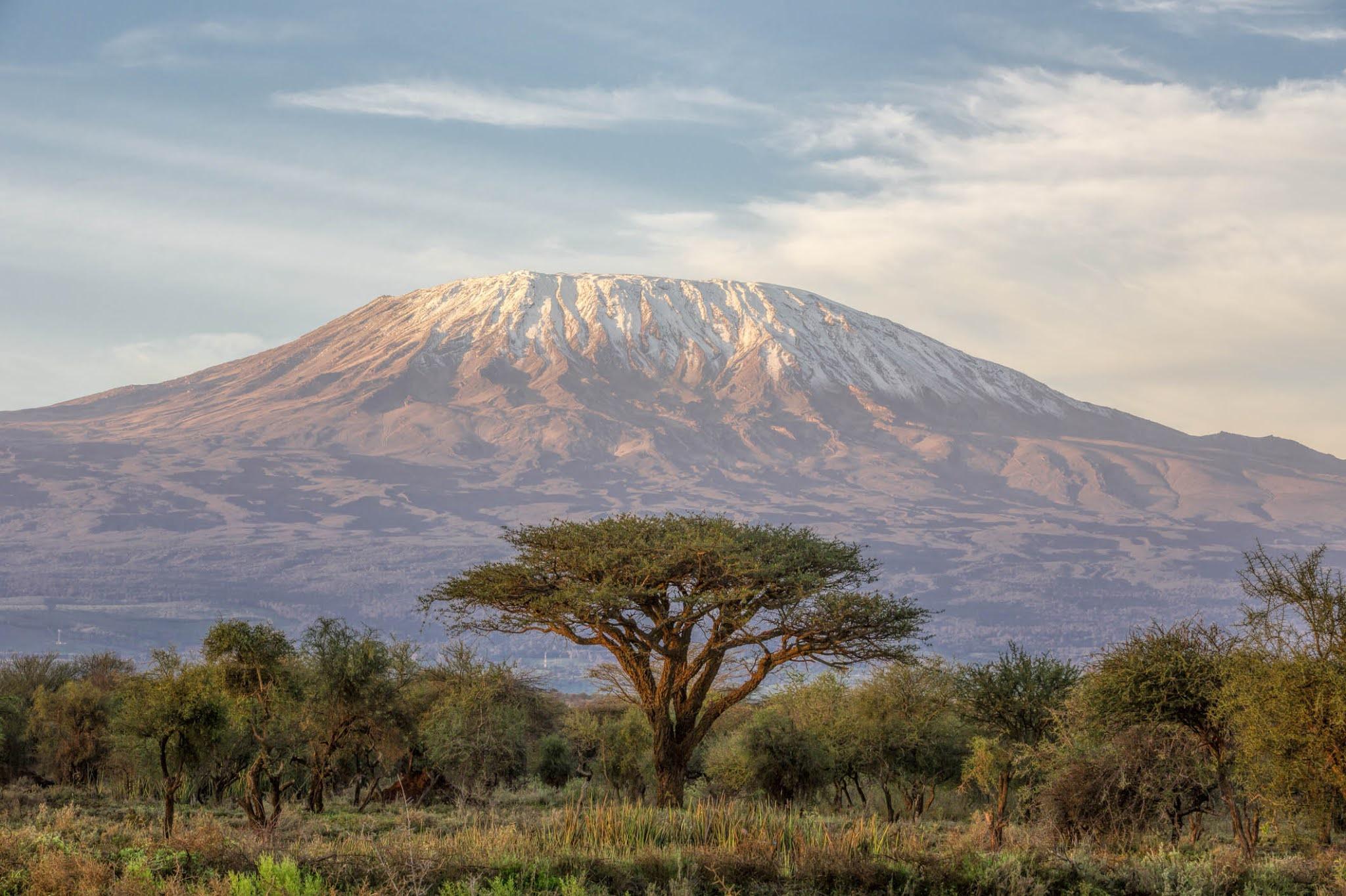 Гора Килиманджаро в Африке