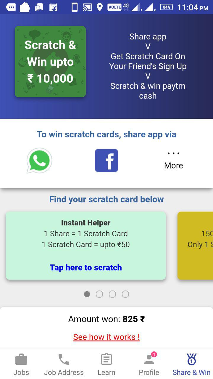 How To Get Unlimited Scratch Cards In Workindia App 2020 Gmk Tricks
