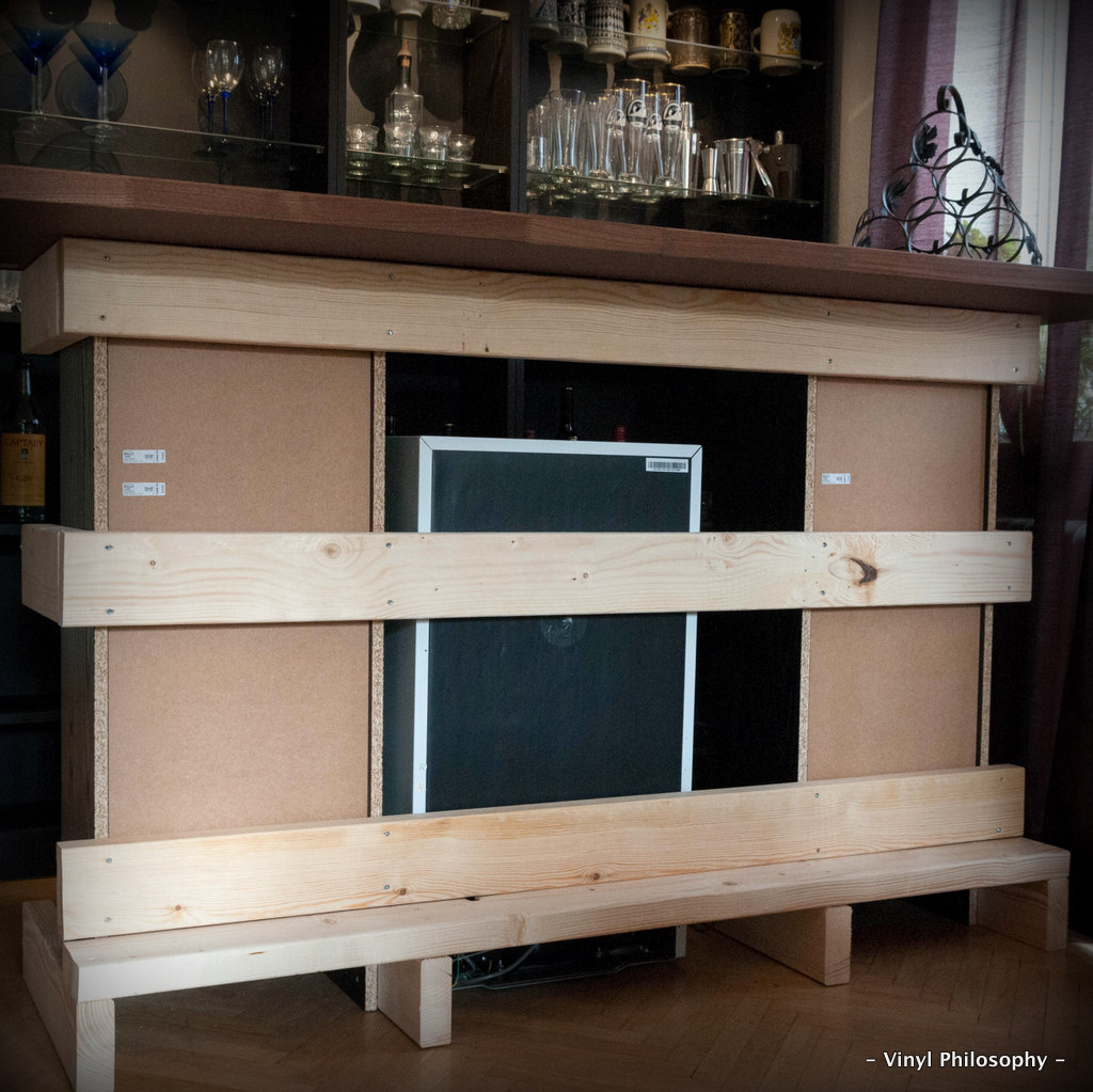 Diy Home Bar Built From Billy Bookcases: - Vinyl Philosophy -: DIY Home Bar Built From IKEA Stuff