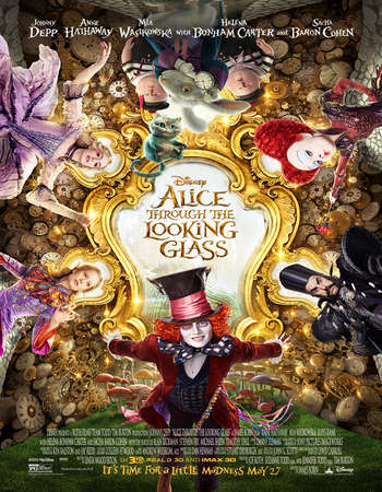 Poster Of Alice Through the Looking Glass 2016 English 700MB HDCAM x264 Free Download Watch Online Worldfree4u