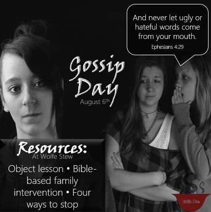 Related object lesson, Bible based interventions and methods to stop.