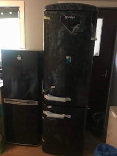 black gorenje fridge freezer size comparison to old fridge