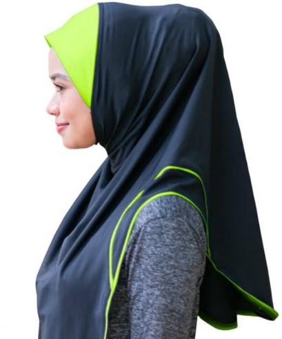 hijab sukan, wanita aktif, hijab tahan, patuh syariah