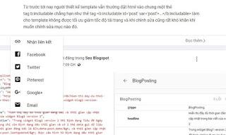 Tạo các nút chia sẻ bài viết với hiệu ứng popup giống template mặc định