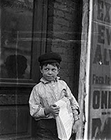A Child Worker in 1910s, photograph by Lewis Hine.