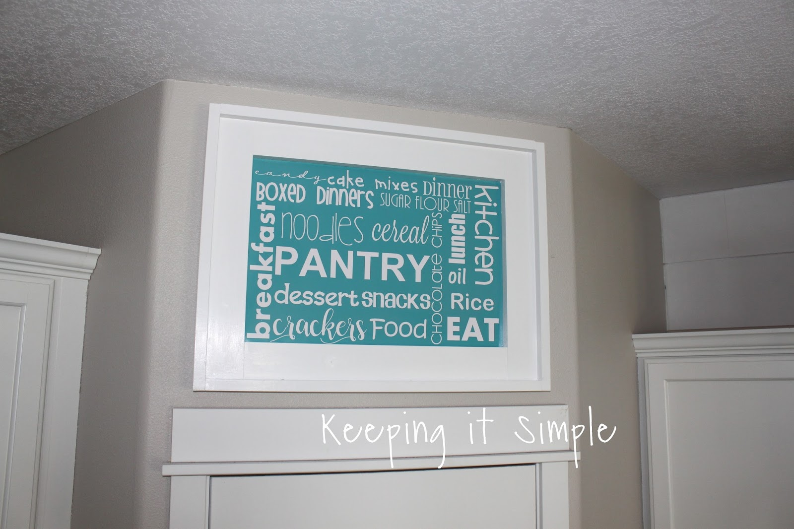 Keeping it Simple: DIY Kitchen Pantry Sign with Subway Art ...