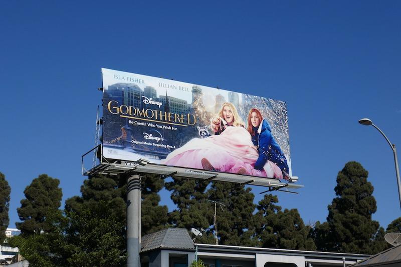 Godmothered Disney film billboard