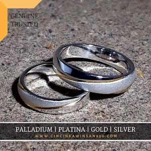 cincin kawin palladium pasangan 537