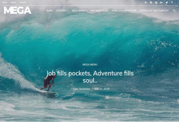 mega-blogger-template