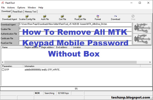 How To Remove All MTK Keypad Mobile Password Without Box