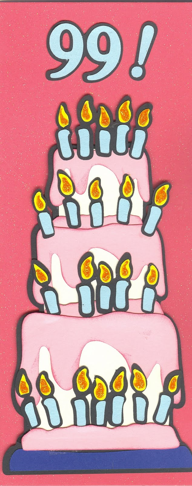 Done By Diane 99th Birthday Card