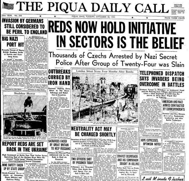 Piqua (Ohio) Daily Call 30 September 1941 worldwartwo.filminspector.com