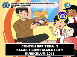 RPP tema 3 kelas 1 sd/mi