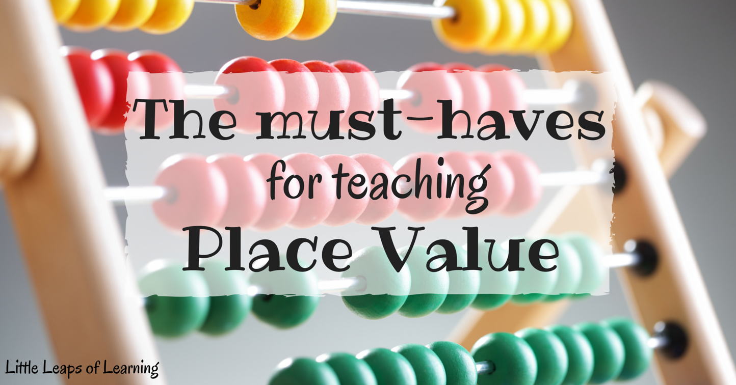 Here are the go-to resources in my toolbox that I bring out whenever I teach place value and number concepts. Aside from your standard MABs (base 10 blocks) ... & Little Leaps of Learning: The must-have resources for teaching ...