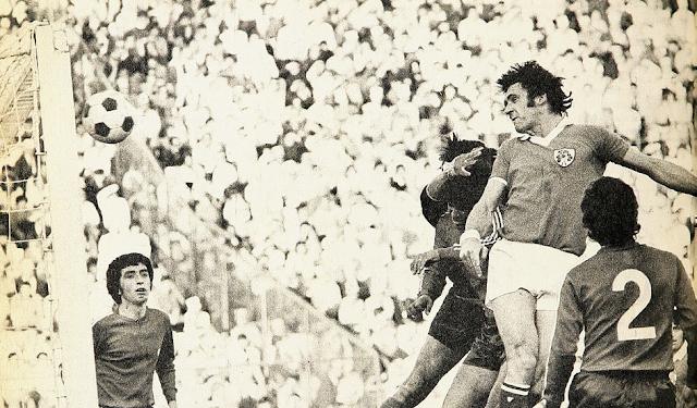 Chile e Irlanda en partido amistoso, 12 de mayo de 1974