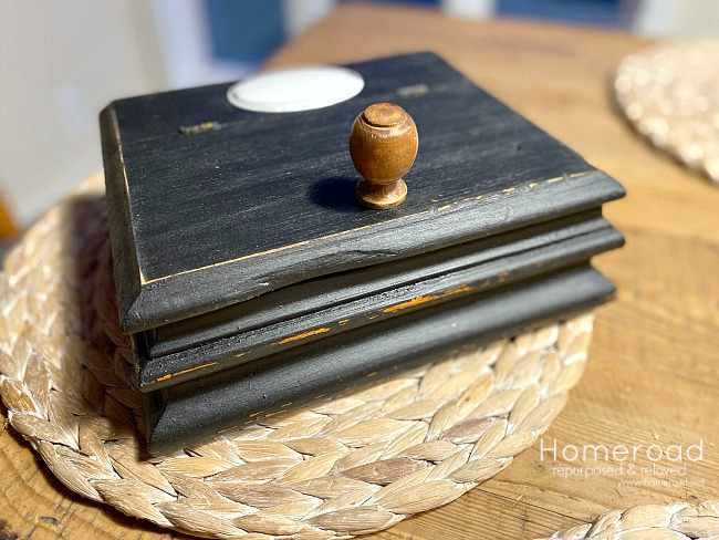 DIY Buffalo Check lined Wooden box for Office Supplies