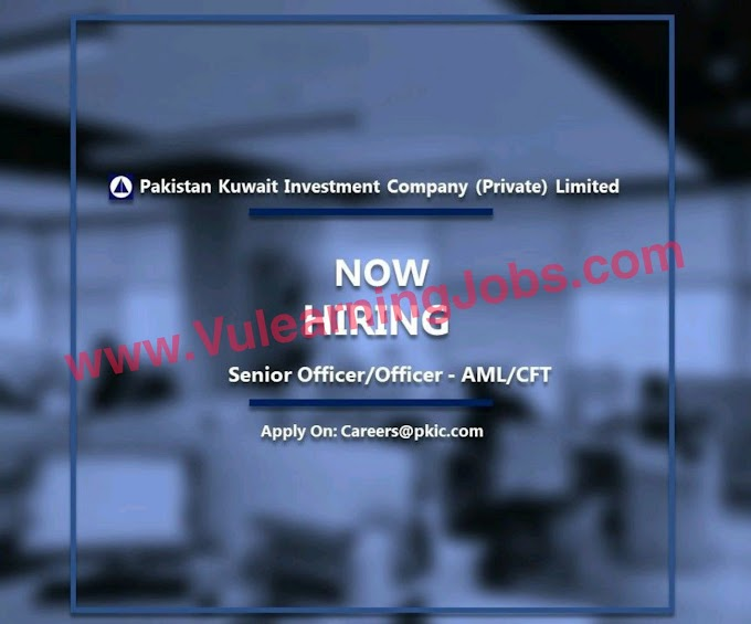 Pakistan Kuwait Investment Company (Private) Limited Jobs July 2021 Senior Officer/Officer - AM Latest