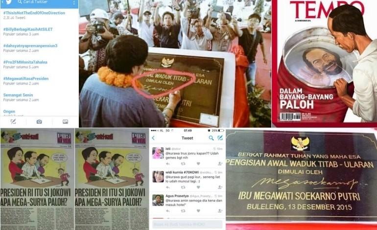 Resmikan Waduk Terbesar di Bali, #MegawatiRasaPresiden Ramai di Sosmed
