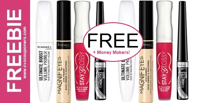 Free at CVS Rimmel Lip & Eye Makeup Deals 4-19-4-25