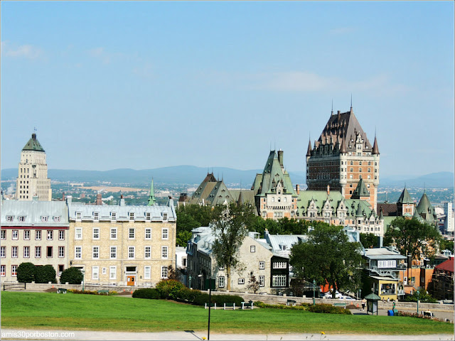 Vistas del Castillo de Frontenac desde la Ciudadela de Quebec
